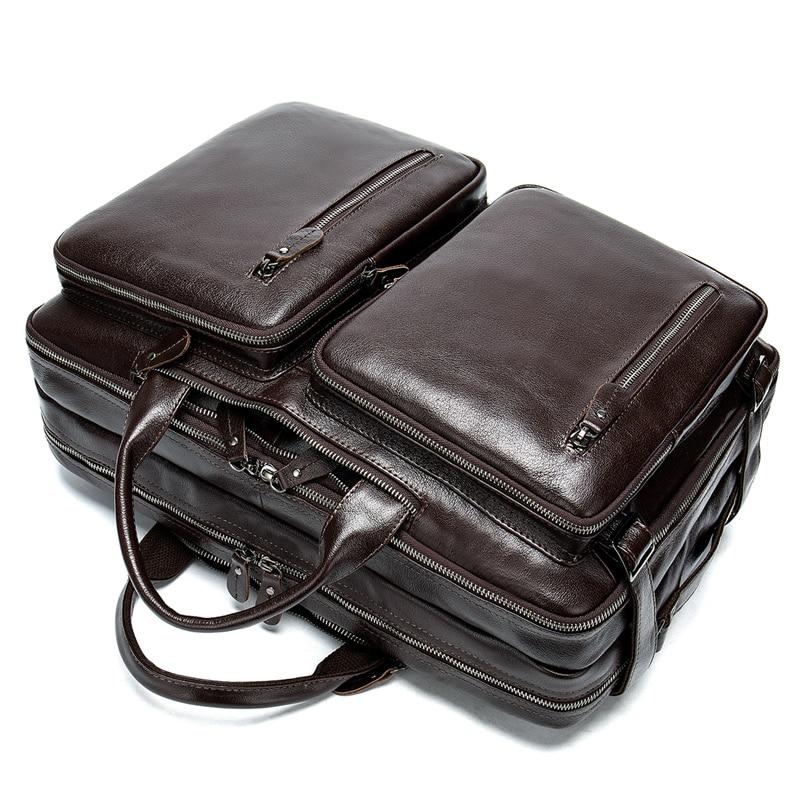 Men Briefcase Genuine Leather Work Bag Briefcase Leather Bag For Men Business Men's Briefcases Business Laptop Mens Handbag  434