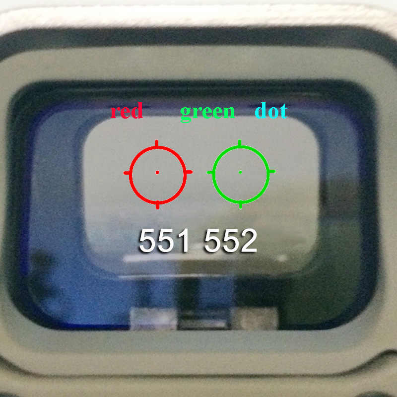 551 552 553 558 Optik Lingkup Berburu Hijau Merah Dot Reflex Sight