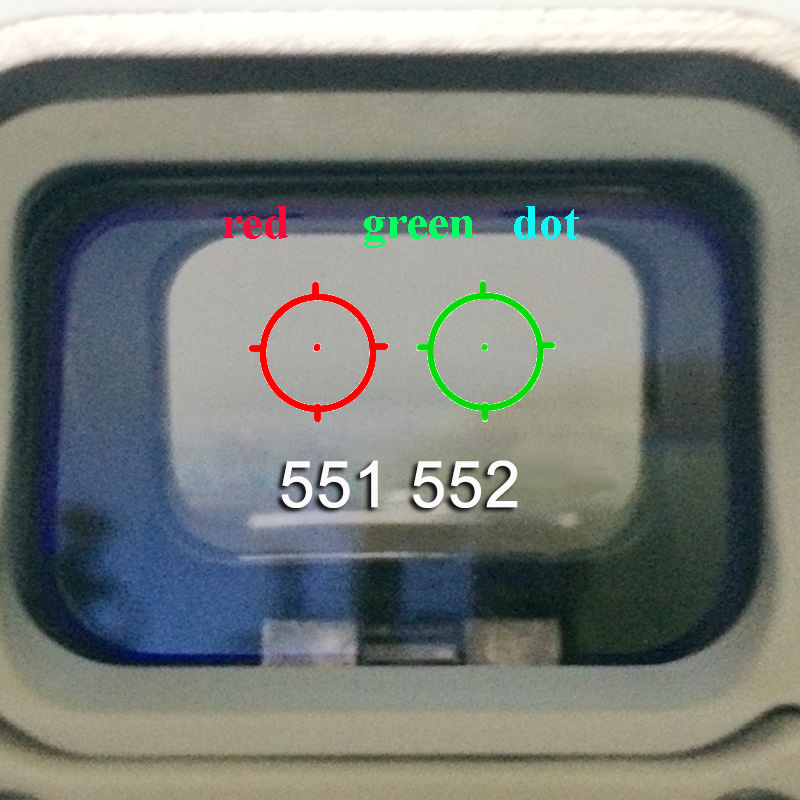551 552 553 <font><b>558</b></font> Optic Scope Hunting Green Red Dot Reflex Sight image