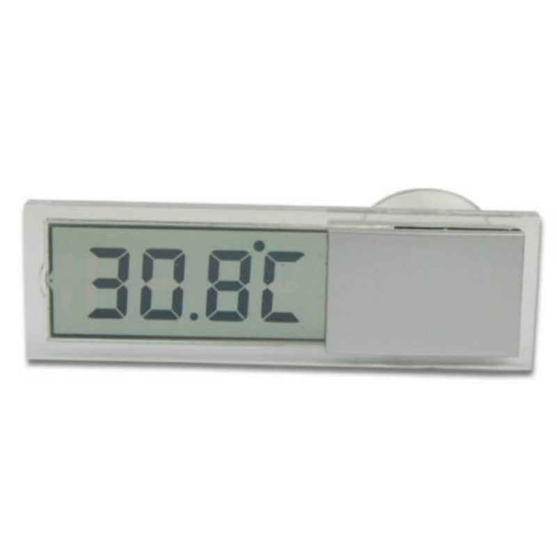 מראת מכונית בית חלון יניקה כוס דיגיטלי מיני LCD טמפרטורת שקוף LCD תצוגת טמפרטורת טווח מדידה-10- 40