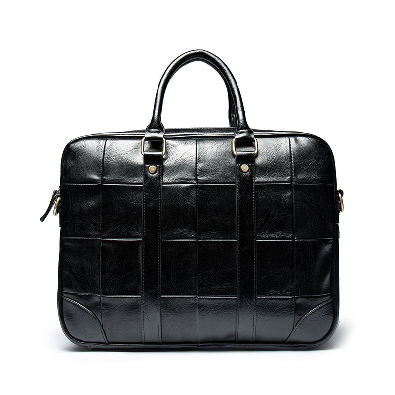 New Retro Business Men's Bag Fashion Casual PU OL Handbag Men's Leather British Trends Computer Briefcase
