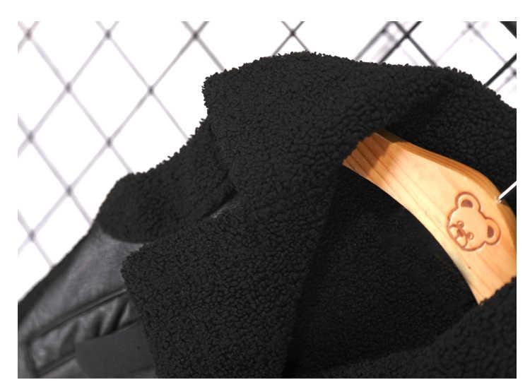 Kinderen Plus fluwelen PU Lederen vest Herfst Winter jongens meisjes warme jas vest modis stiksels kinderen jassen vest Y2556
