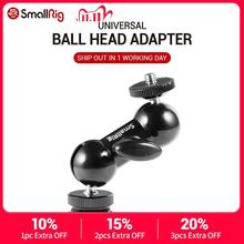 "SmallRig Cool Ball head V1 Multi function Double Ball head with Shoe Mount & 1/4"" Screw for Monitors Led Light   1135"