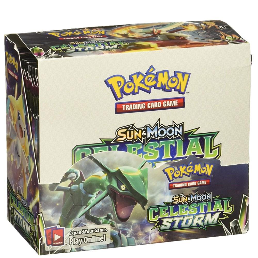 324pcs/box Pokemon Cards TCG: Sun & Moon Celestial Storm 36 Pack Booster Box Trading Card Game Kids Toys