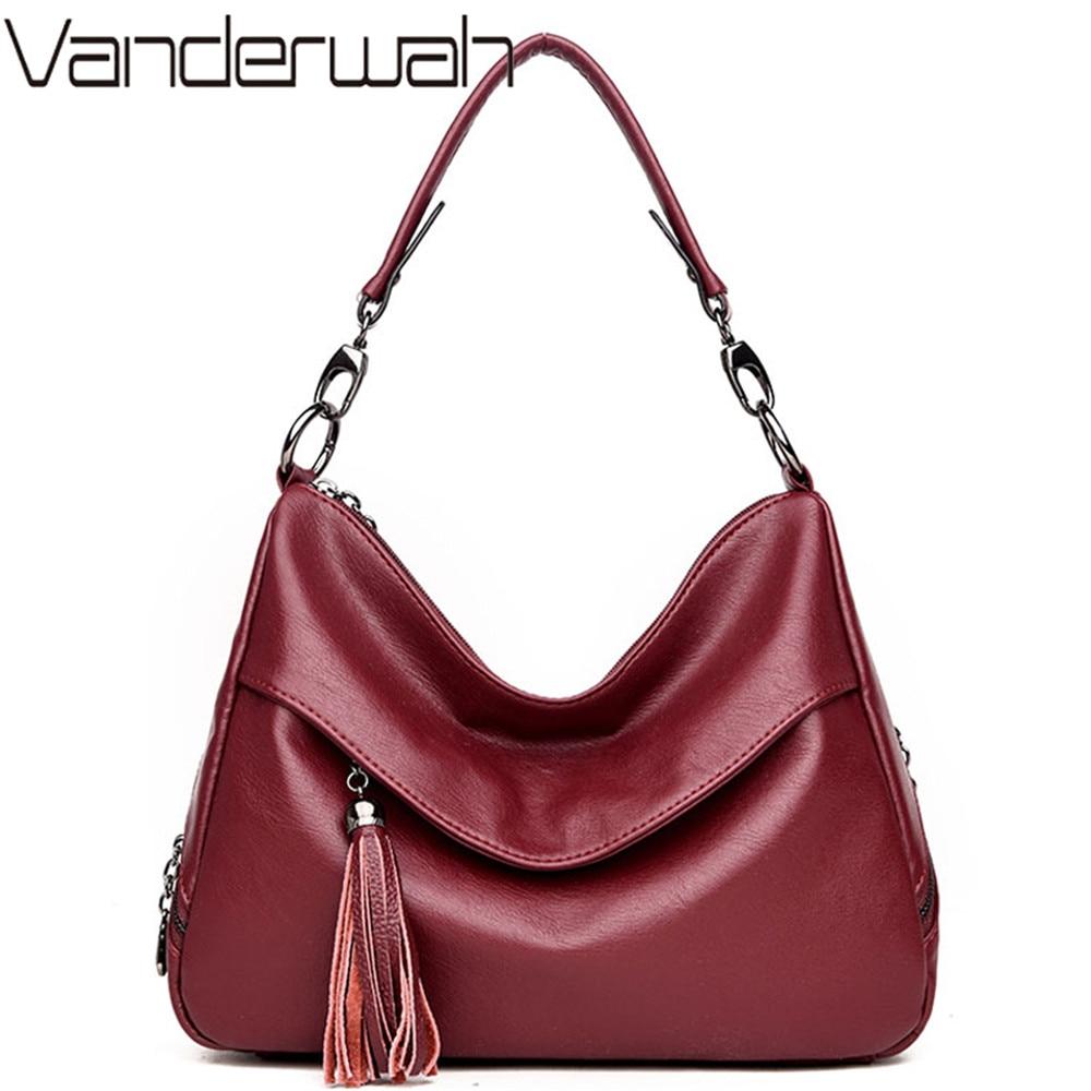 Sac A Main Femme Leather Tassel Luxury Handbags Women Bags Designer Ladies Hand Bags High Quality Women Shoulder Tote Bag Bolsa