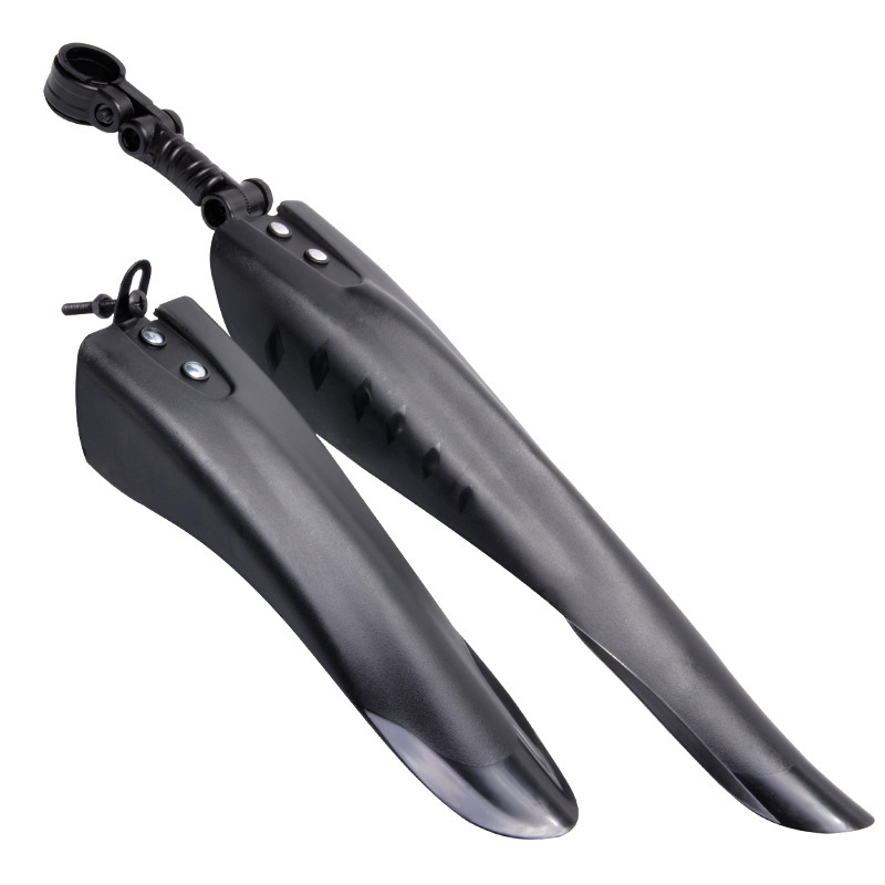 Bicycle Mudguard MTB <font><b>Fender</b></font> Mountain <font><b>Bike</b></font> Front <font><b>Rear</b></font> Quick High Cycling fat tire tail stand fixed parts road Mud Guard plastic image