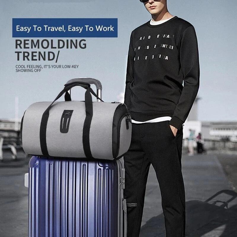 Sac de voyage multifonctionnel pour les voyageurs d'affaires femmes homme résistant à l'eau costume vêtements stockage grand sac C55