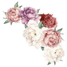 Self Adhesive Wall Sticker Craft Peony Mural Flowers Bedroom Living Room Art Decoration Removable
