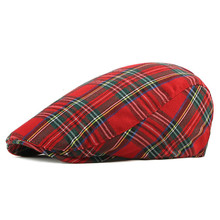 Beret Classic British-Striped Octagonal-Cap Peaked-Cap Korean Winter Fashion New Autumn