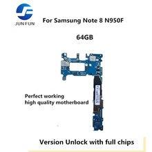 Бренд Jun Fun используется оригинальная материнская плата для Samsung Note 8 N950F разблокированная материнская плата, логическая плата протестированная пластина