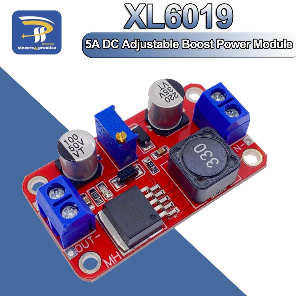 5A DC-DC шаг вверх Мощность модуль повышающий преобразователь напряжения 3,3 V-35V 5V 6V 9 В, 12 В, 24 В постоянного тока, XL6019 Регулируемый Выход регулято...