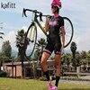 Kafitt camisa de ciclismo das mulheres macacão pouco macaco ciclismo ciclismo ciclismo manga curta camisa terno esportes uniforme 20