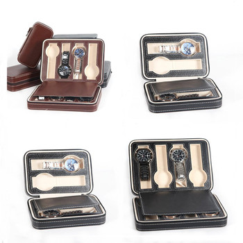 Watch Box PU Leather Portable Zipper Organizer 1