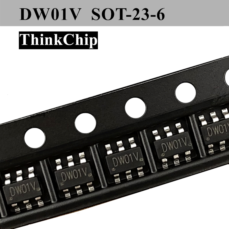 Free Shipping 20 PCS / Lot DW01V SOT23-6 SMD Lithium Battery Protection Chip New Original