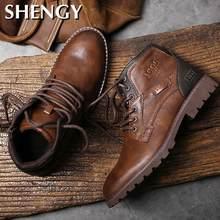 Hommes chaussures automne hiver bottes Style rétro bottines à lacets bottes décontractées chaussures hautes pour vêtement homme résistant Zapatos bottes