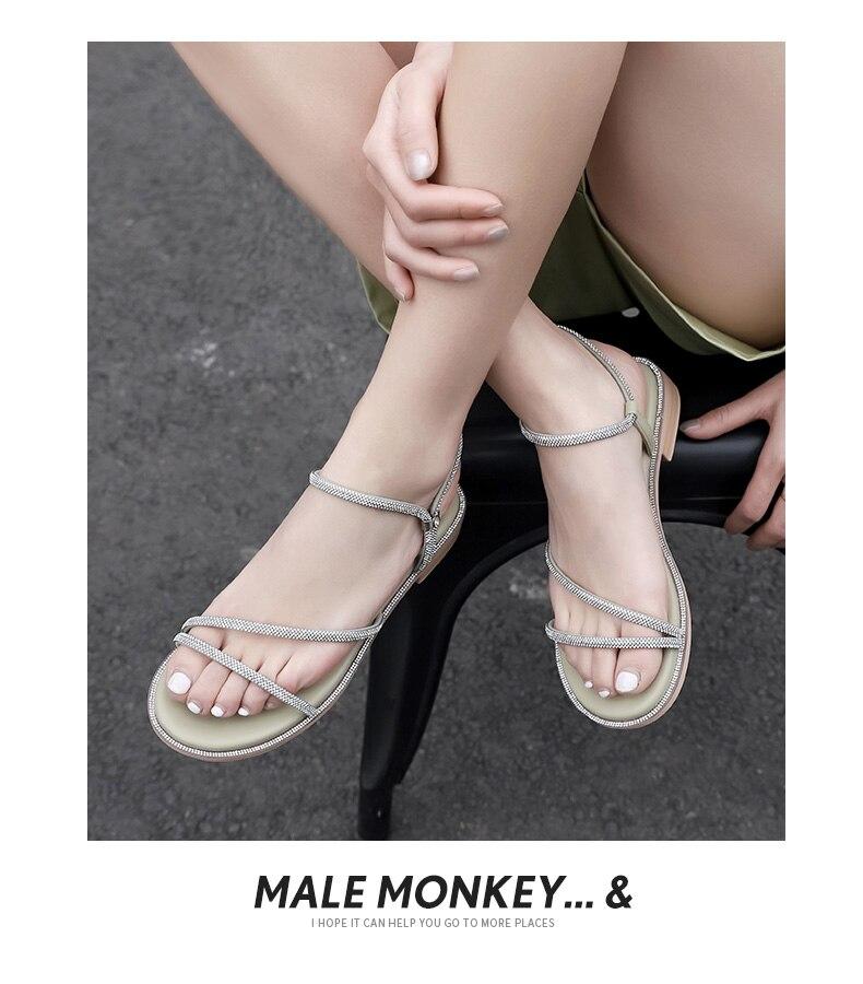 Confortável respirável moda feminina sandálias 2021 primavera