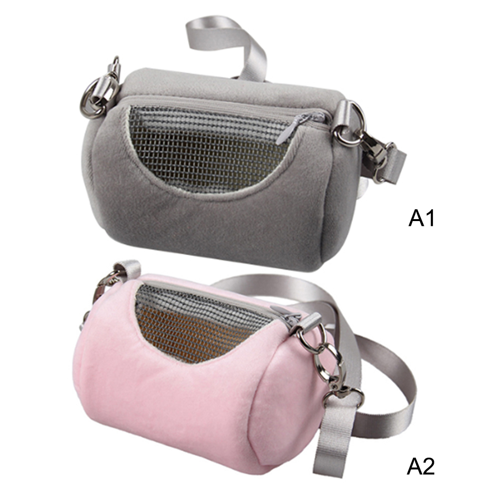 Small Pet Travel Bag Hamster Carrier Breathable Shoulder Strap Outdoor Carrying Bags Breathable Small Pet Handbag Pet Bag