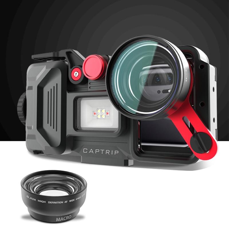 In lega di alluminio Caso di Immersione Per Huawei Compagno di 20 30 7 8 9 10 Pro Lite 20 Lite Pro 20X Copertura impermeabile fotografia subacquea