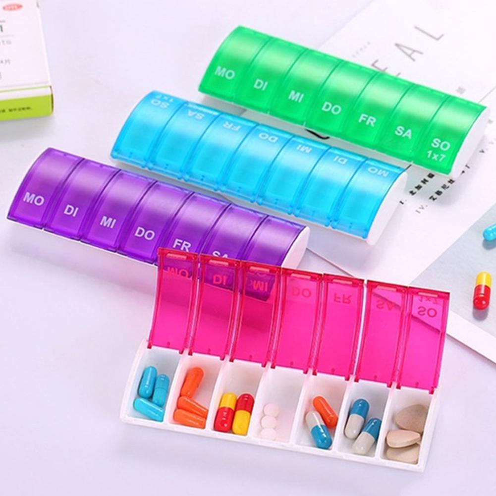 Cases Empty-Storage Container Splitters-Holder Sorter-Box Tablet Medicine Travel-Pill-Case