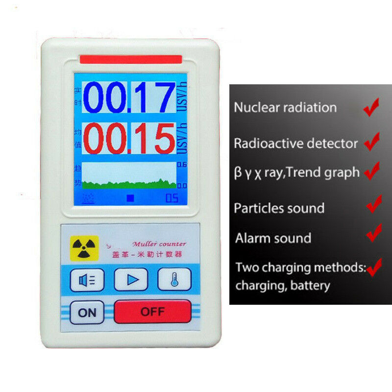 Geiger Counter Nuclear Radiation Detector Personal Dosimeter X-ray Beta Gamma Detector LCD Radioactive Tester Marble Tool