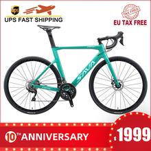 Rower szosowy SAVA rower szosowy 700c hamulec tarczowy szosowy rower wyścigowy z SHIMANO 105 R7000 22 prędkości rower rowerowy rower wyścigowy tanie tanio Z włókna węglowego Mężczyzna 21 prędkości 9 kg 150 kg 11 kg Nie Amortyzacja Podwójne hamulce tarczowe 160-185 cm