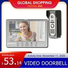 KKmoon Визуальный Домофон Дверь видео домофон 7 Wired Система Видео Телефон Двери TFT LCD Монитор Крытый ТВЛ Открытый ИК Камера, Поддержка Unlock видеодомофон