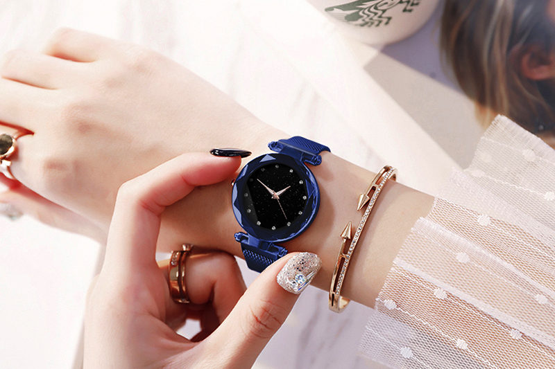 Ha526955711b24471be08e87dae9ac2baF Luxury Women Watches Ladies Magnetic Starry Sky