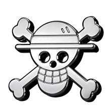 1 Pcs 3D Metal Pirate Skull Car Sticker Logo Sign Badge Applique Car Motorcycle Styling Decoration Accessories