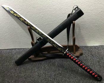 Nowy jeden miecz samurajski na zewnątrz niezbędny miecz ostry ręczny kucie wyposażenie domu prosty nóż wyposażenie domu tanie i dobre opinie CN (pochodzenie) CHINA Tradycyjny chiński Metal
