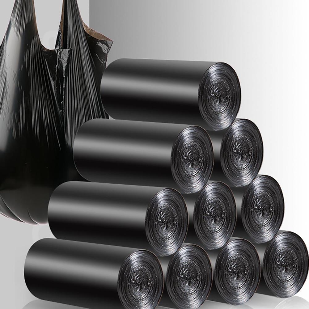 100PCS Large Garbage Bags Black Thicken Disposable Environmental Waste Bag Privacy Plastic Trash Bags 43x63CM