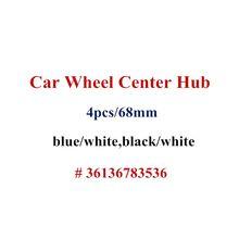 4 Pçs/lote 68mm 10 Pinos Azul/White Car Centro de Roda Hub Caps Tampa Do Emblema Do Emblema para BMW 1 3 5 7 X3 X5 M3 M5 36136783536
