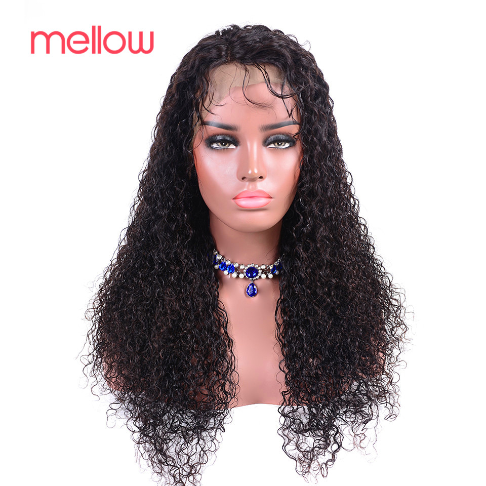 Perruques Mellow Jerry perruques bouclées cheveux humains brésiliens Bob avant de lacet perruques pré-cueillies avec bébé cheveux dentelle Ftontal fermeture perruque
