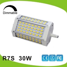 Dimmable 30w led R7S light 118mm R7S lamp No fan J118 RX7S replace 300W halogen lamp AC110 240V