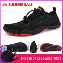 Męskie buty do wody boso męskie buty plażowe dla kobiet buty trekkingowe oddychające buty sportowe turystyczne szybkie suche rzeki woda morska trampki tanie tanio AFFINEST Pasuje prawda na wymiar weź swój normalny rozmiar Spring2019 Gumką Początkujący Szybkoschnący Elastycznej tkaniny
