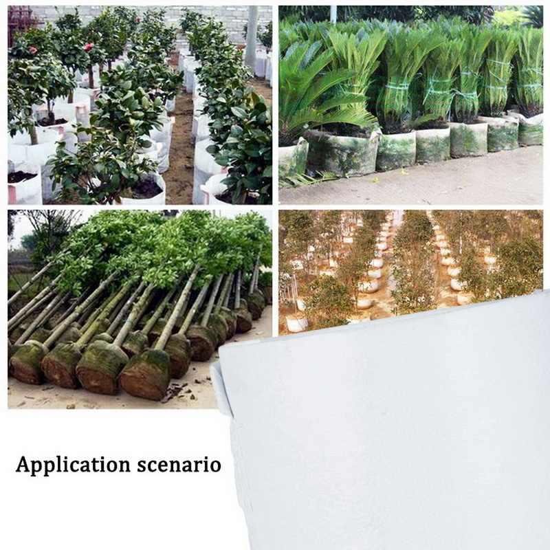 10 pçs planta redonda crescer saco de tecido pote planta bolsa recipiente de raiz cultivo plantio crescer saco jardim suprimentos