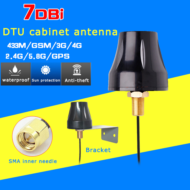 Gain7-28dBi Rg174 SMA Inner Needle Cabinet Antenna 4g 2g 2.4g Wifi Gsm Gprs 433M Gps Outdoor Waterproof Anti-theft Charging Pile