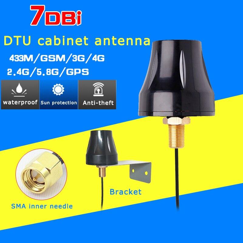 Gain7-28dBi Rg174 SMA Inner Needle Cabinet Antenna 4g 2g 2.4g Wifi Gsm Gprs 433M Gps Outdoor Waterproof Anti-theft Charging Pile