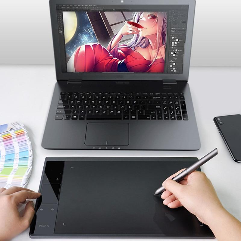 LEORY tablette de dessin graphique avec 8192 niveaux stylo sans batterie 10x6 pouces périphériques d'ordinateur de zone Active