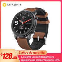 Versión Global Amazfit GTR 47mm reloj inteligente 5ATM reloj inteligente impermeable 24 días batería GPS Control de música correa de cuero de silicona
