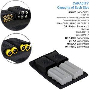 Image 2 - Batterie Pochette pour Carte Mémoire Sac De Rangement pour SD CF Cartes XQD pour Sony NP F550 NP FW50 NP FZ100 Canon LP E6 LP E8 LP E10 LP E12