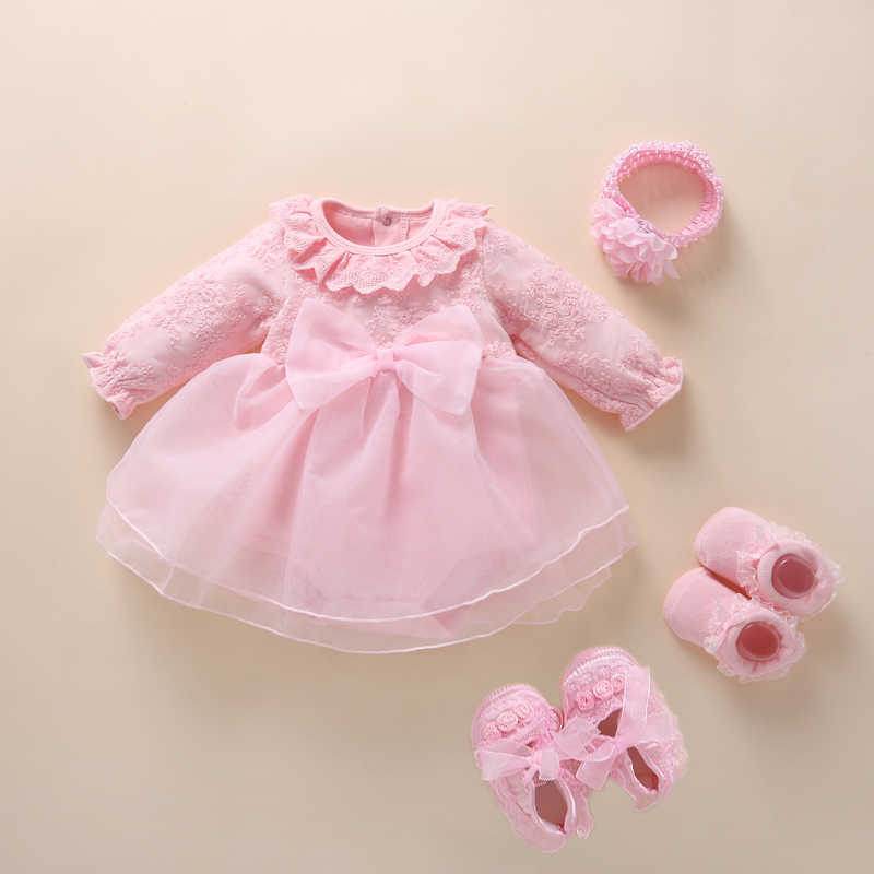 New Born baby girl clothes&dresses cotton princess style baby baptism dress 2019 infant christening dress vestidos 0 3 6 months