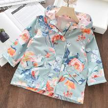 Girls Shirts Blouses Clothing Flowers Embroidery Toddler Kids Summer Melario Brand