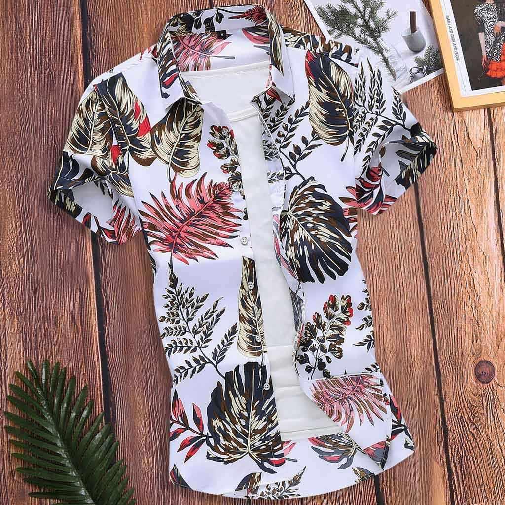 남성 슬림 하와이 반팔 프린트 턴 다운 칼라 탑 셔츠 한국 легкое белое платье camisas sociais masculinas