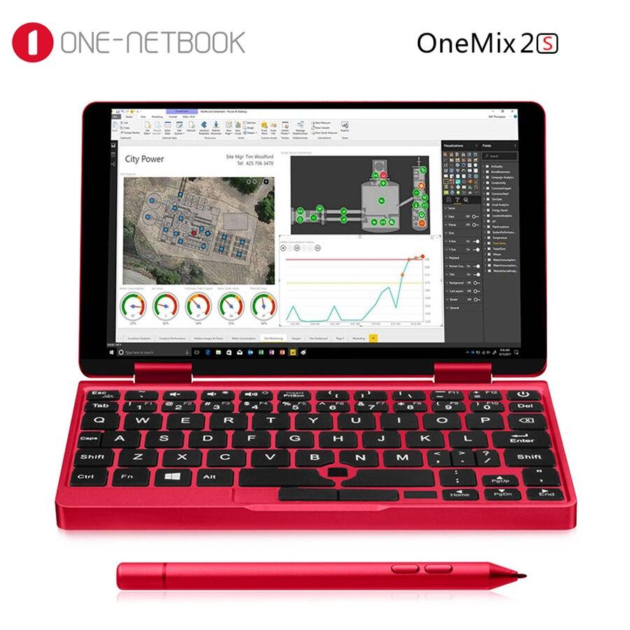 Один нетбук Mix 2S красный Карманный ПК Intel Core M3-8100Y 8 ГБ ОЗУ 512 ГБ SSD FHD экран Распознавание отпечатков пальцев Лицензия Windows 10