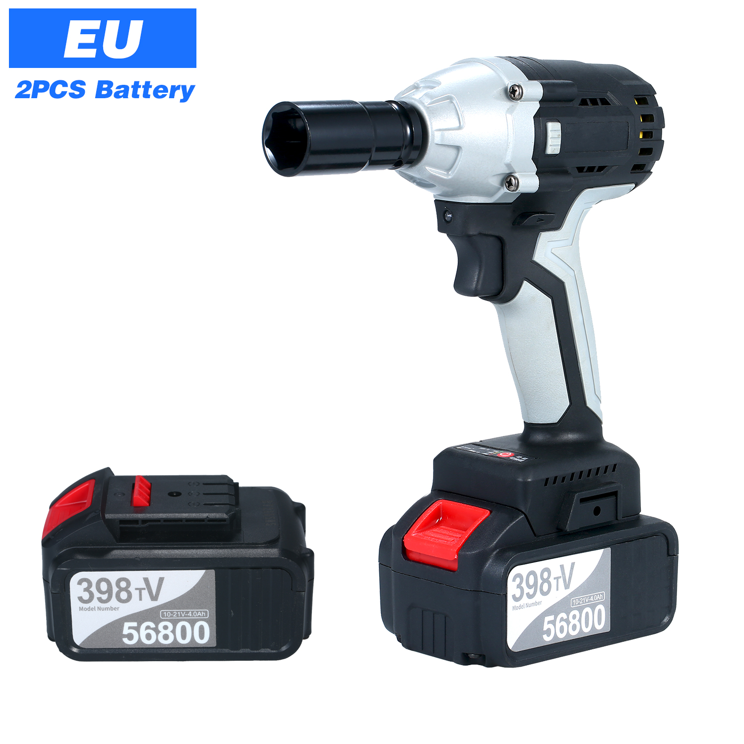 Handheld Professional Cordless Electric Brushless Impact Wrench with 1 2in Chuck with Driver Impact Sockets