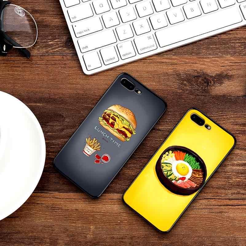 ل Xiaomi Redmi 7 ملاحظة 4X 5A 16G 32G 7 الذهاب 7A الكرتون الغذاء السوشي رقائق وجبات خفيفة K20 برو 6 ملاحظة 5 6 8 K20 برو السيليكون كوكه كابا