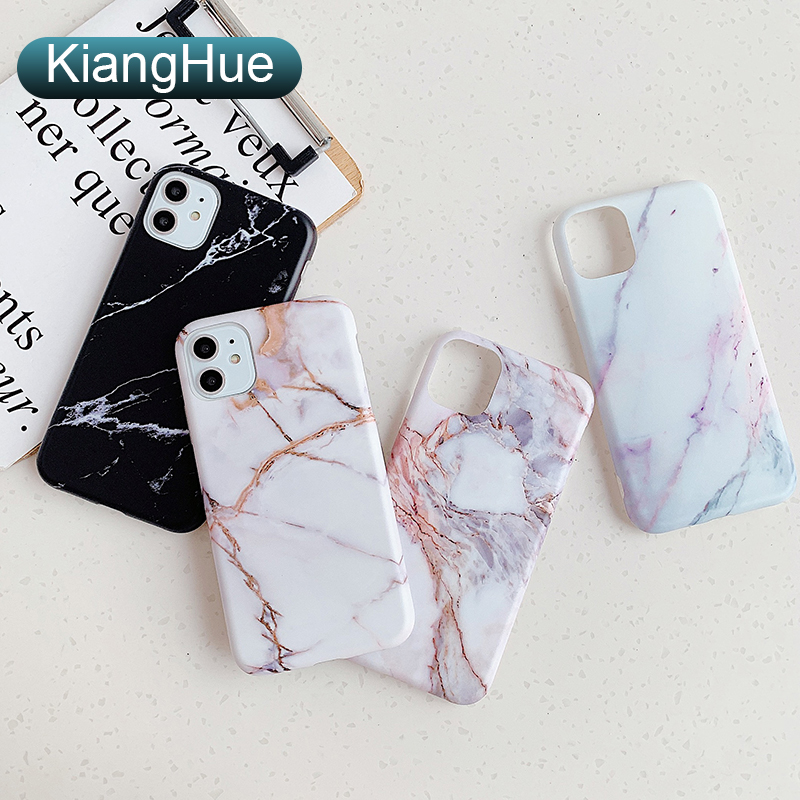 Luxury Silicone Soft Phone Case For Iphone 11 Pro Xs Max X Xr Marble Matte Full Cover Case For Iphone 8 7 6s 6 Plus Se 2020 Slim