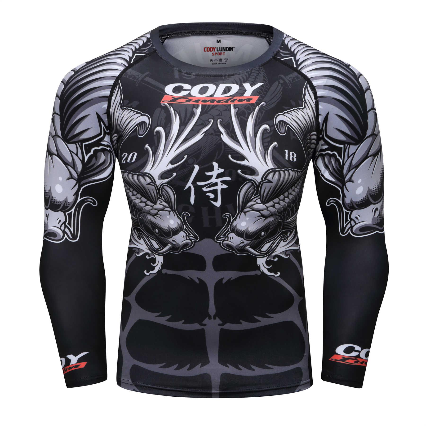Camisa do esporte do boxe do muay thai do pulôver mma rashguard boxen jérsei da aptidão