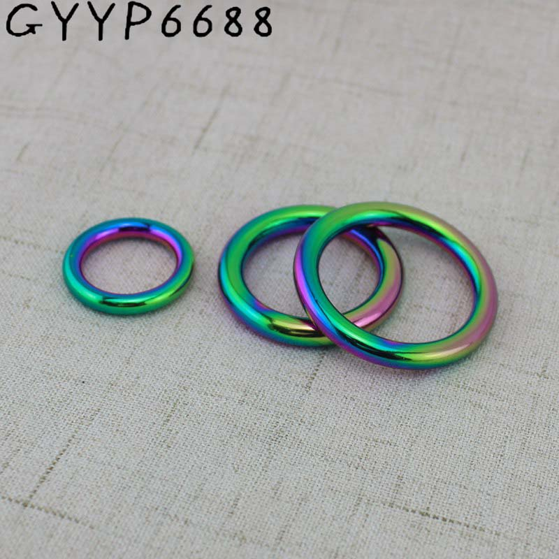 Rainbow Pet's Strap O Ring,bags' Accessories,alloy Welded Rings,Closed Round O Ring For Bags  Purse Sewing