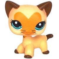 Лпс стоячки кошки Игрушки для кошек lps, редкие подставки, маленькие короткие волосы, котенок, розовый#2291, серый#5, черный#994,, коллекция фигурок для питомцев - Цвет: 3573